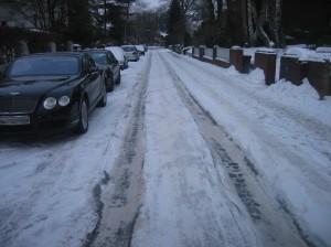 Gefrorene Straße